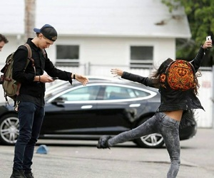 crazy, couple, and dance image