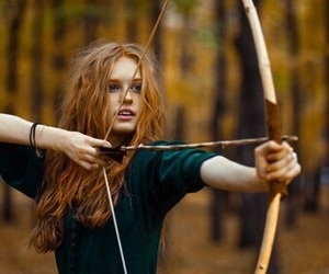 girl, ginger, and arrow image