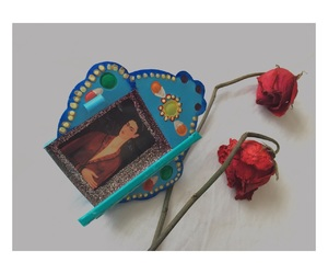 art, frida kahlo, and roses image