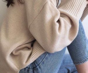 aesthetic, outfit, and sweater image