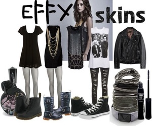 outfit, black, and Effy image