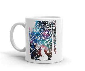 etsy, best friend gift mug, and coffee mug with fox image
