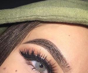 makeup, eyebrow, and eyes image