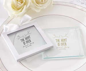 rustic wedding favors, the hunt is over, and the hunt is over theme image