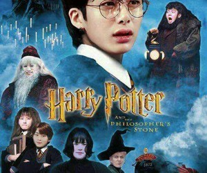 harry potter, one direction, and funny image