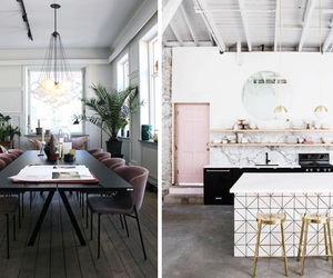 baby pink, interior, and kitchen image