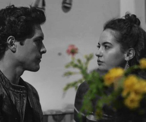 aesthetic, blackandwhite, and couple image