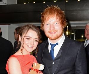 game of thrones, ed sheeran, and maise willians image