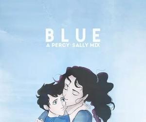 blue, percy jackson, and sally jackson image