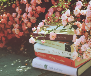 relax, spring, and reading image