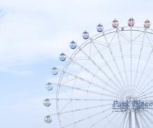 ferris wheel and blue image