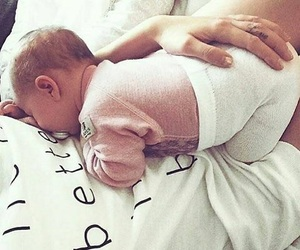 mom, baby, and love image