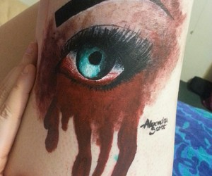 art, beautiful, and blood image