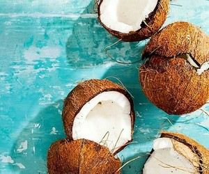 coconut, summer, and fruit image