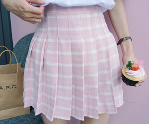 indie, pink, and skirt image