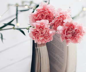 book, flowers, and fresh image