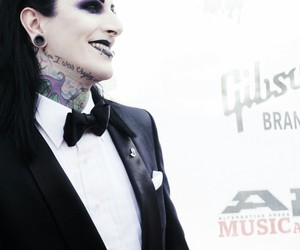bands, flesh, and goth image