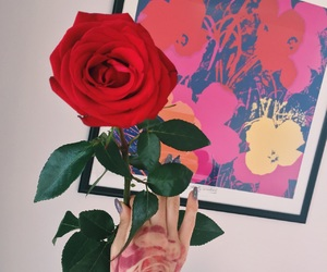 andy warhol, art, and flowers image