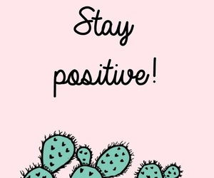 wallpaper, positive, and cactus image