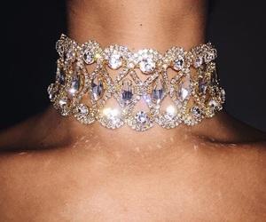 choker, diamonds, and jewelry image