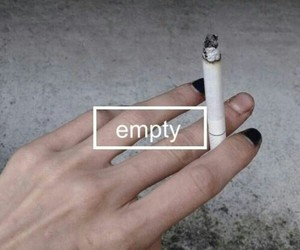 empty, grunge, and cigarette image