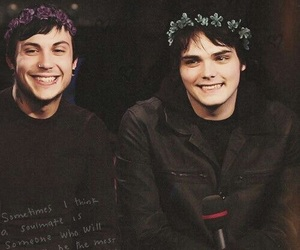 gerard way, frank iero, and mcr image