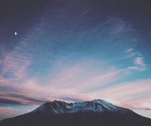 sky, mountain, and beautiful image