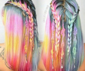 hair, braid, and color image