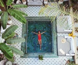 girl, pool, and morocco image