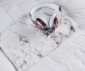headphones, laptop, and beats image