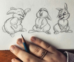 bunny, disney, and art image