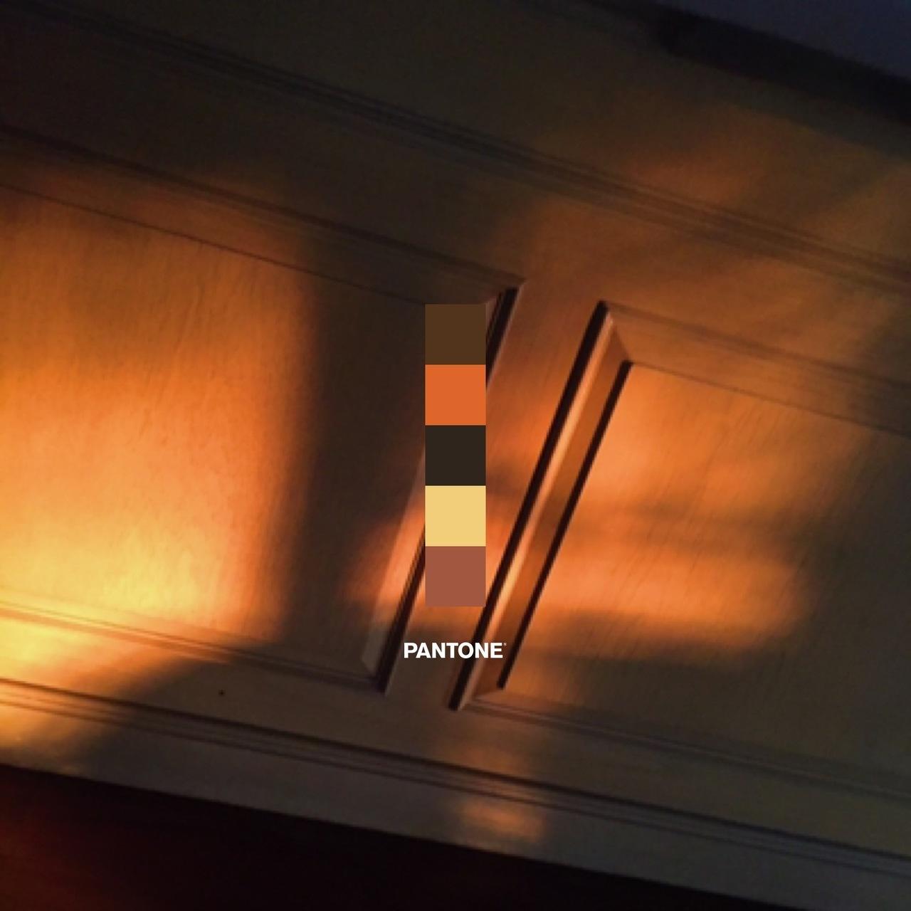 orange, pantone, and sun image