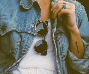 fashion, tattoo, and glasses image