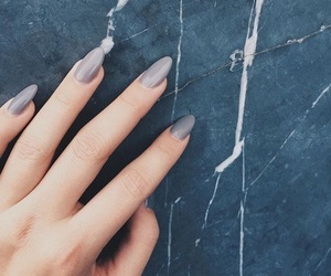 nails, grey, and marble image