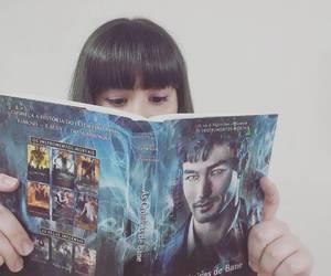 book, girl, and livro image