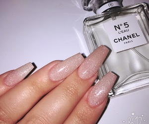 chanel, nails, and acrylic image