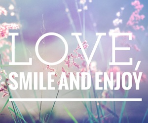 enjoy, smile, and flowers image