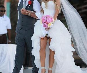 bridal dress, sweetheart neckline, and pick ups image
