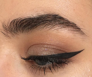 eye liner, eye shadow, and eyebrows image