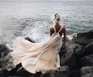 beauty, coast, and dress image