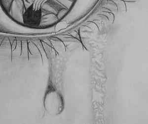 cry, eye, and sad image