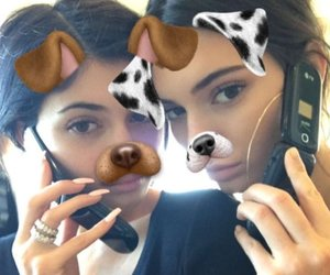 kendall jenner, kylie jenner, and snapchat image