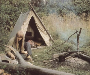girl, camping, and nature image
