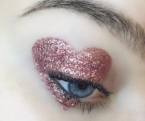 heart, pink, and makeup image