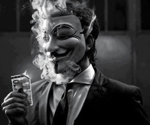 anonymous, mask, and smoke image
