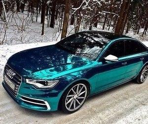 car, audi, and blue image