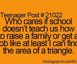 school, teenager post, and so true image