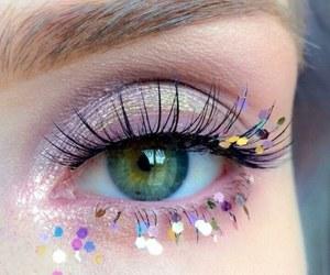 eyes, eye, and pink image