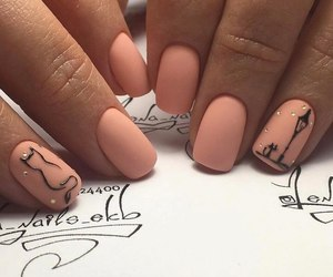 nails, cat, and fashion image