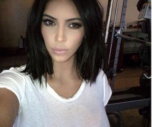 kim kardashian, kim kardashian west, and hair image